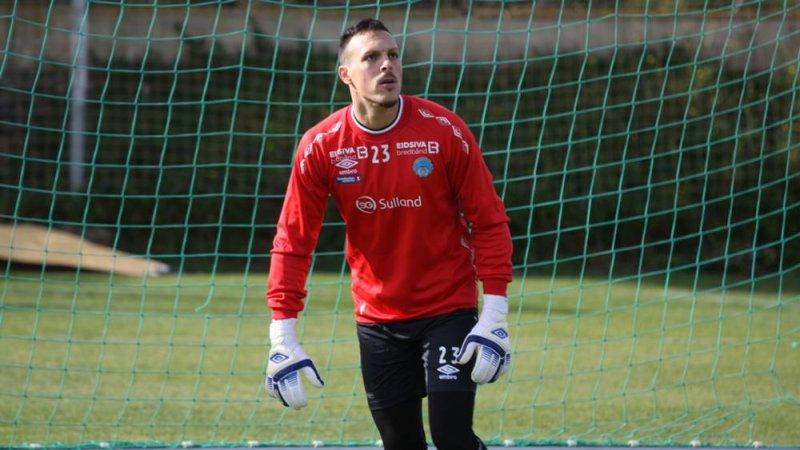 Daniel Rojas i aksjon på trening.
