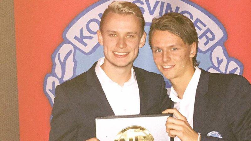 Lars Rydje og Adrian Ovlien fra cupfinalebanketten.