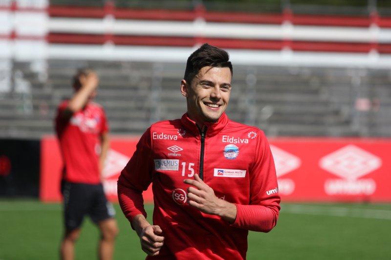 Kirill Suslov i strålende humør tilbake på Gjemselund.