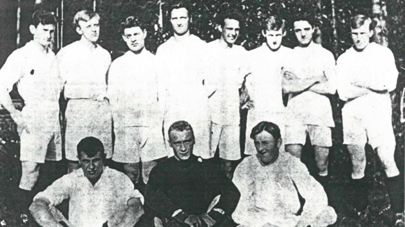Kongsvinger IFs a-lag fra 1919. Bildet er utlånt av Uno Arnesen.