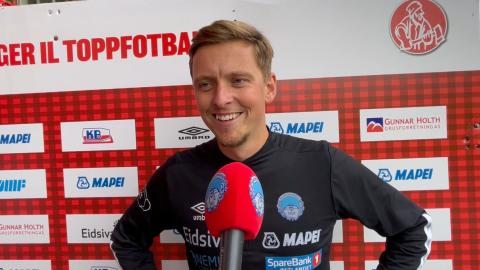 KILs Johan Wennberg var tydelig godt fornøyd etter en overbevisende seier mot Strømmen.